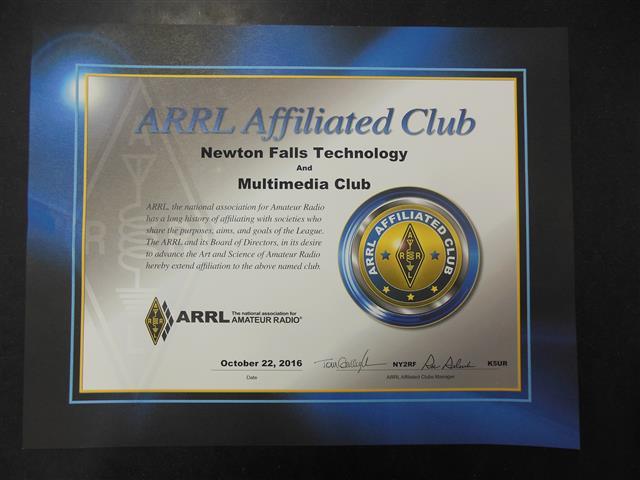 Official ARRL Club Certification